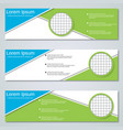 Abstract geometric banners design templates