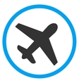 Airplane Circled Icon vector image vector image