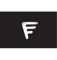 Alphabet letter F logo icon design vector image