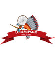 american indians cult objects and magic banner vector image