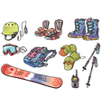 Backcountry Freeride Stuff for the Snowboarders vector image vector image