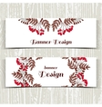 Banners With Red Berries vector image vector image