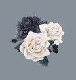 beautiful bouquet composition with vector image vector image