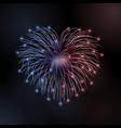 beautiful heart-firework bright romantic firework vector image