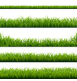 big set green grass borders vector image