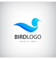 blue bird logo icon isolated Abstract vector image vector image