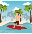 boy surfing water sport extreme vector image