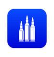 bullet ammunition icon digital blue