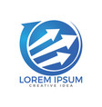 business abstract logo design vector image vector image
