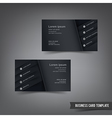 Business Card template set 030 black and dark vector image vector image