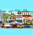 busy city in the morning vector image vector image