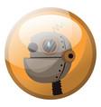 cartoon character of light brown retro robot in vector image