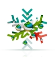 Christmas decorated modern snowflake icon vector image vector image