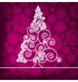 Christmas Ornamental Tree Background vector image vector image
