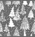 colorful seamless pattern with christmas tree vector image