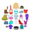 corset icons set cartoon style vector image vector image