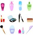 Cosmetics icon set vector image vector image