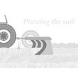 cross-section of the soil in the place of plowing vector image vector image