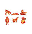 dog superhero character wearing red cloak and vector image vector image