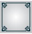 Elegant Celtic frame vector image vector image