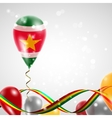 Flag of Suriname on balloon vector image vector image