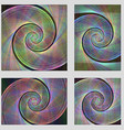 Fractal spiral page background design set vector image vector image