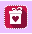 Gift Boxwith Heart Shape Icon vector image vector image