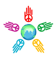 global peace vector image vector image