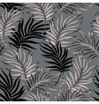 hand drawn curved palm leaves silhouettes vector image