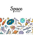 hand drawn space elements background vector image vector image
