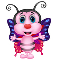 Happy butterfly cartoon vector image vector image