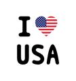 I LOVE USA3 vector image vector image
