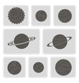 icons with planets of the solar system vector image vector image