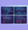 infographic template with flat design statistics vector image