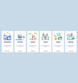 kitchen website and mobile app onboarding screens vector image