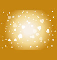 lights or hearts gold background romantic banner vector image