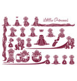 little princess collection vector image vector image