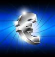 metallic euro money icon vector image vector image