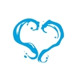 Milk or water heart sign vector image vector image
