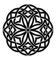 ornament decorative celtic knots and curls vector image vector image