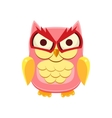 Pink Owl Holding the Laughter vector image vector image