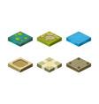 platforms different ground textures set user vector image vector image