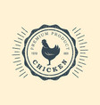 premium chicken logo labels badges and design vector image vector image