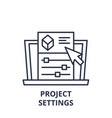project settings line icon concept project vector image