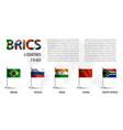 realistic flag of brics vector image