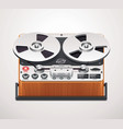reel-to-reel recorder icon vector image