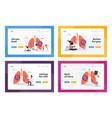 respiratory medicine pulmonology healthcare vector image vector image