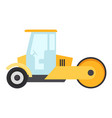 road roller icon flat style vector image