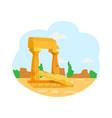 ruins ancient civilizations pillars monument vector image
