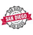 san diego round ribbon seal vector image vector image